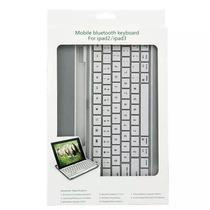 Capa Case C/ Teclado Bluetooth Keyboard P/ Apple Ipad 2 E 3