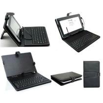 Capa Case De Couro Teclado Usb Para Tablet 7 P Preto Mkv