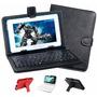Capa De Couro Cores Com Teclado Usb Tablet 7 Polegadas Show!