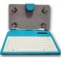 Capa Com Teclado Tablet 7 Polegadas 2015 Cores Case