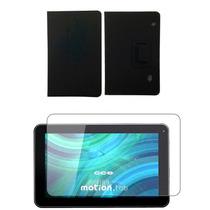 Capa Cce9 Tr91 Tr92 Tablet Preta + Película Vidro Temperado