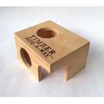 Casa De Madeira Hamster Penn Plax Timber Hide-away Natural