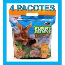 Ração Coelhos Funny Bunny Delícias Da Horta 1,8 Kg 4 Pacotes