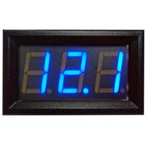 Voltímetro Digital Azul 0-100v Bateria Carro Som Arduino