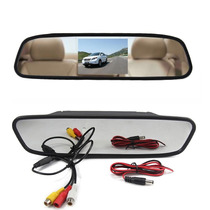 Espelho Retrovisor Monitor Tela Lcd 4.3 Carro Universal