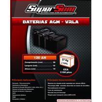 Baterias Agm 120 Ah Estacionarias,gel,não Moura,freedom,top