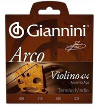 Encordoamento Cordas Para Violino 4/4 Giannini Jogo Completo