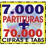 7 Mil Partituras + 70 Mil Cifras Em 2 Cds - Frete Grátis