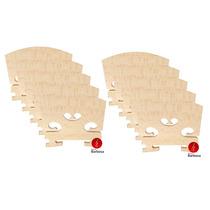 Kit 10 Cavaletes Maple Envelhecido Rajado Para Violino 4/4