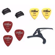 Kit De Acessórios Para Guitarra E Violão