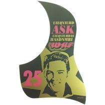 Escudo Elvis Presley Violão Protetor Palhetadas Autocolante