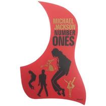 Escudo Michael Jackson Violão Protetor Palhetadas Autocolant