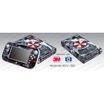 Capa Skin Nintendo Wii U Adesivo Adesivo Resident Evil #25