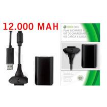 Kit Control Xbox 360 Slim Carregador Bateria Lacrado