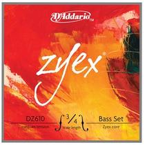 Encordoamento P/ Baixo Acústico D Addario Zyex Dz610 3/4m