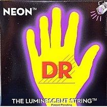 Encordoamento P/ Baixo 4 Cordas Dr Neon - Amarelo Nyb .40