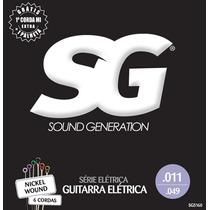 Corda 011 Guitarra Sg Nickel Wound 5160 Encordoamento 5 Sets