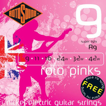 Encordoamento Rotosound Guitarra 0.09 Roto Pinks R9