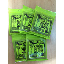 5 Sets Encordoamento Ernie Ball Guitarra 010 2621 7 Cordas