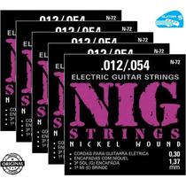 Cordas Nig 012 054 P/ Guitarra Encordoamento N72 - 5 Jogos