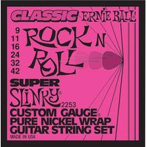 Jogo De Cordas Guitarra 0.9 Ernie Ball 2253 + 2 Palhetas
