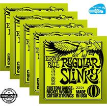 Jogo De Cordas Guitarra Ernie Ball 010 2221 05 Sets + Brinde