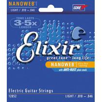 Corda 010 Elixir Nanoweb Guitarra 12052 Original Promoção