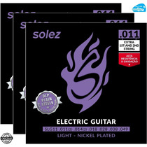 Jogo De Cordas Solez Para Guitarra 011 Slg11 Nickel 3 Sets