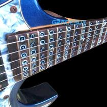 Kit D Adesivos Com Mapa D Notas D Violão Guitarra -24 Casas