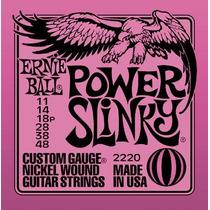 Jogo De Cordas P/ Guitarra 011 Ernie Ball 2220 Original