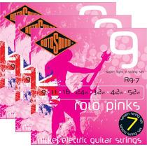 Encordoamento P/ Guitarra 7 Cordas 09 Rotosound R9-7 3 Jogos