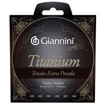 Encordoamento Violao Giannini Genwxta Titanium Pesada 04344