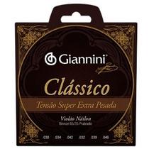 Encordoamento Violao Giannini Genwsxpa Nylon Pesado, 05383