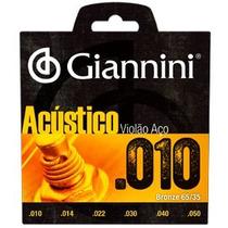 Encordoamento P/ Violao Giannini Geswam 010 Aco Bronze,00363