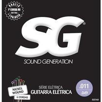 Encordoamento Sg Para Guitarra 011 Nickel Hibrida