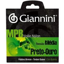 Encord Giannini P Violão Nylon Serie Mpb Genwbg Preto - Ouro