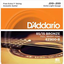 Encordoamento P/ Violão D´addario, Bronze 85/15 Ez900-b .010