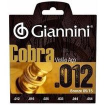 Cordas Giannini P/ Violao Aço 012 Cobra