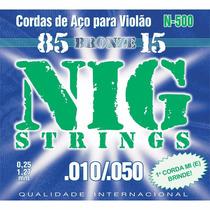 Encordoamento Violão Aço 010-050 Nig N500 Bronze 8515   205