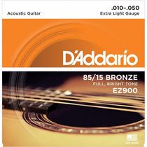 Encordoamento Violão Aço 0,10 Daddario Ez900b Bronze 168