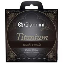 Encordoamento Giannini Genwta Titanium Tensão Pesada Ec0221