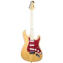 Guitarra St Rocket Natural Escudo Tortoise Vermelho Dolphi