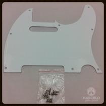 Escudo Guitarra Telecaster Branco+brindes,revenda Autorizada