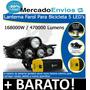Farol Bike Lanterna Bicicleta 5 Led Bateria Recarregável