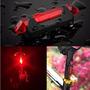 Lanterna Led Usb Farol Bike Recarregável 3 Modos Iluminação