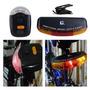 Kit Led Bicicleta 3 Em 1 C/ Luz Seta+freio+emergencia