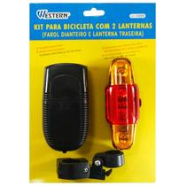 Lanterna Farol Bike Bicicleta Kit 2 Peças Western