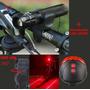 Farol Lanterna Tatica Led + Potente Acessório Bicicleta Bike
