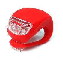 Luz Led Bicicleta Kit 2 Peças Segurança Lanterna Silicone