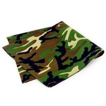 Lenço Bandana Militar Verde Camuflada 100% Algodão 55cmx55cm